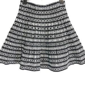 CYNTHIA ROWLEY Black Cotton Sweater Skirt ~sz S